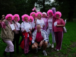Here he is with a bunch (mad bunch at that) of wonderful ladies who completed the walk for the much deserving charity.