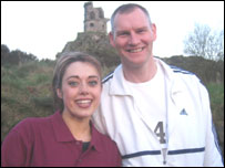 Janine Machin (BBC Radio Stoke Breakfast Show) and Steve after the