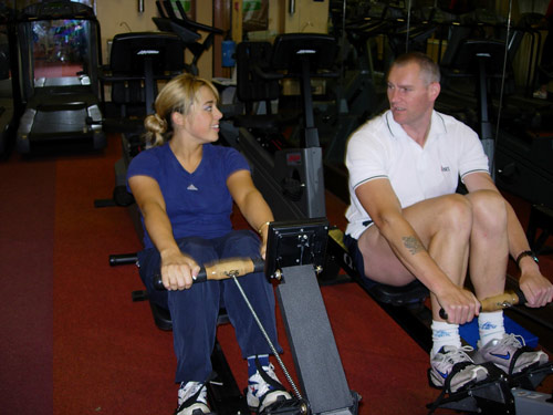 A lot of endurance work was carried out on the Concept 2 rowing machine. The smiles just goes to prove that exercise can be fun.